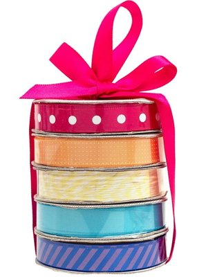 American Crafts Premium Ribbon 5 Pack Rainbow