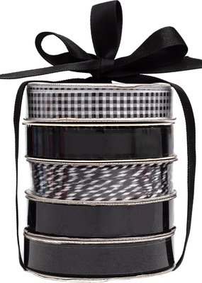 American Crafts Premium Ribbon 5 Pack Black