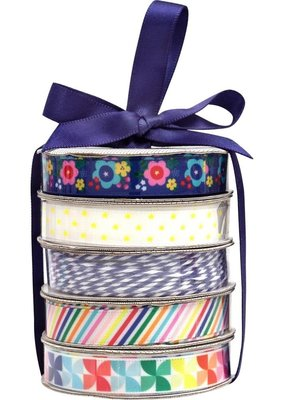 American Crafts Premium Ribbon 5 Pack Cheerful