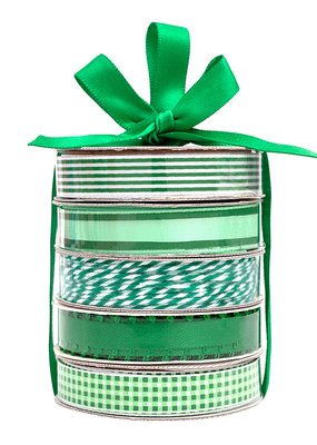 American Crafts Premium Ribbon 5 Pack Dark Green