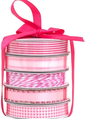 American Crafts Premium Ribbon 5 Pack Pink