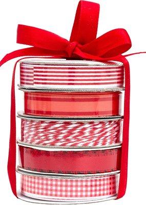 American Crafts Premium Ribbon 5 Pack Red