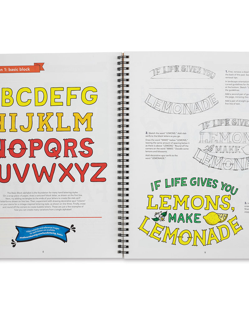 Strathmore Strathmore Learn Hand Lettering Basics Lettering Pad