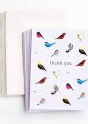 Waste Not Boxed Cards Birds with Personality Thank You