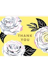 Waste Not Boxed Cards Camellia Thank You Foil