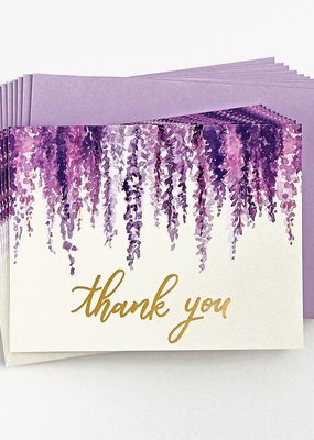Waste Not Boxed Cards Hanging Wisteria Thank You