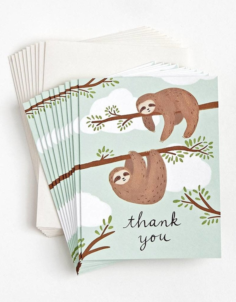 Waste Not Boxed Cards Sloths Thank You