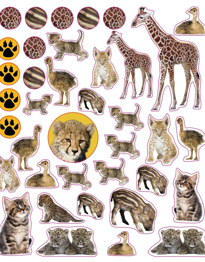 Workman Eyelike Stickers Baby Animals