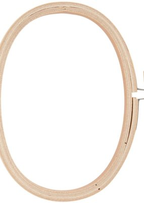 Embroidery Hoop Wooden 3 x 5 Inch Oval