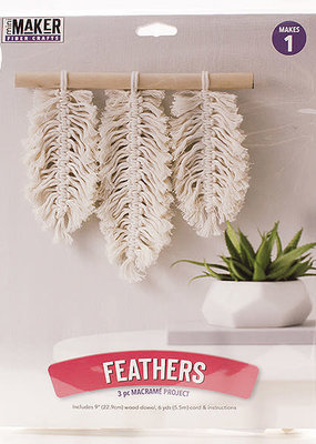 Leisure Arts Macrame Feathers Kit