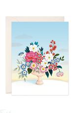 joo joo paper Card Flower Vase Light Blue Sky