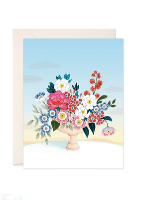 joo joo paper Card Flower Vase Light Blue Sky