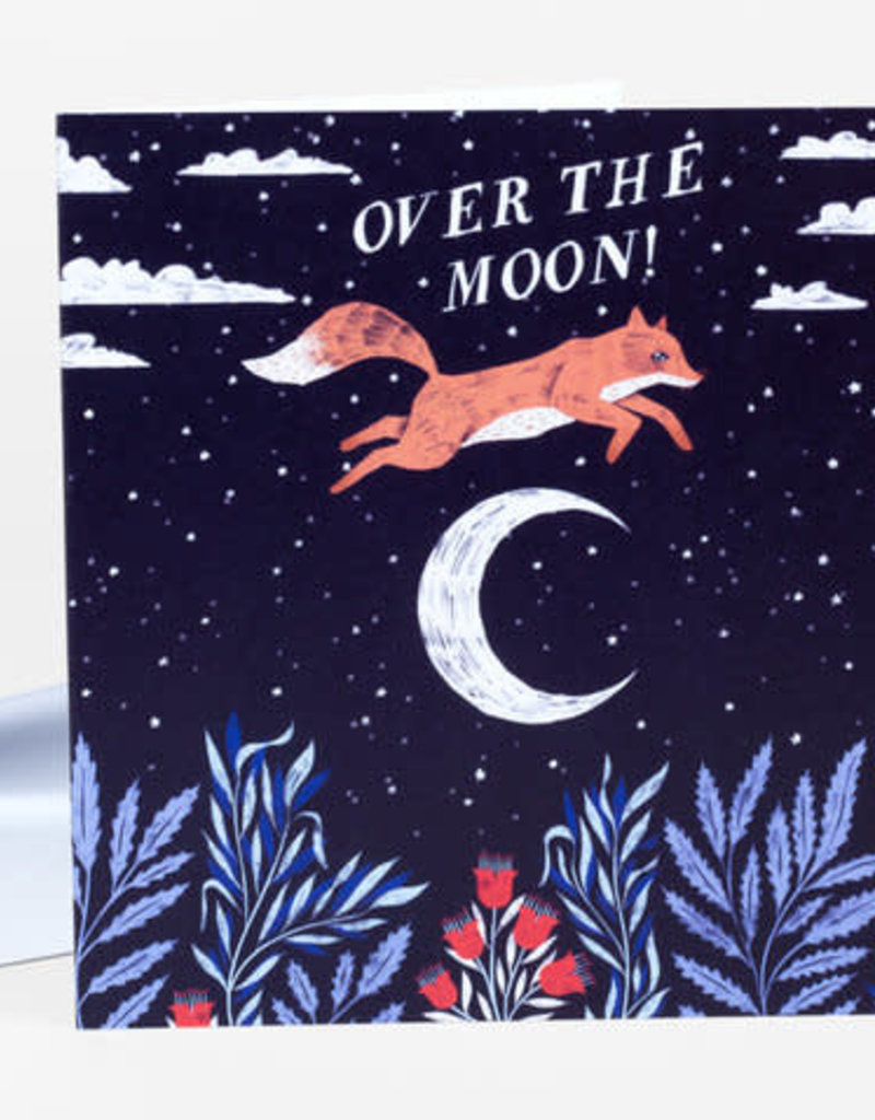 Papio Press Card Over the Moon Fox
