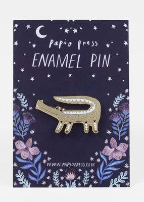Papio Press Enamel Pin Crocodile