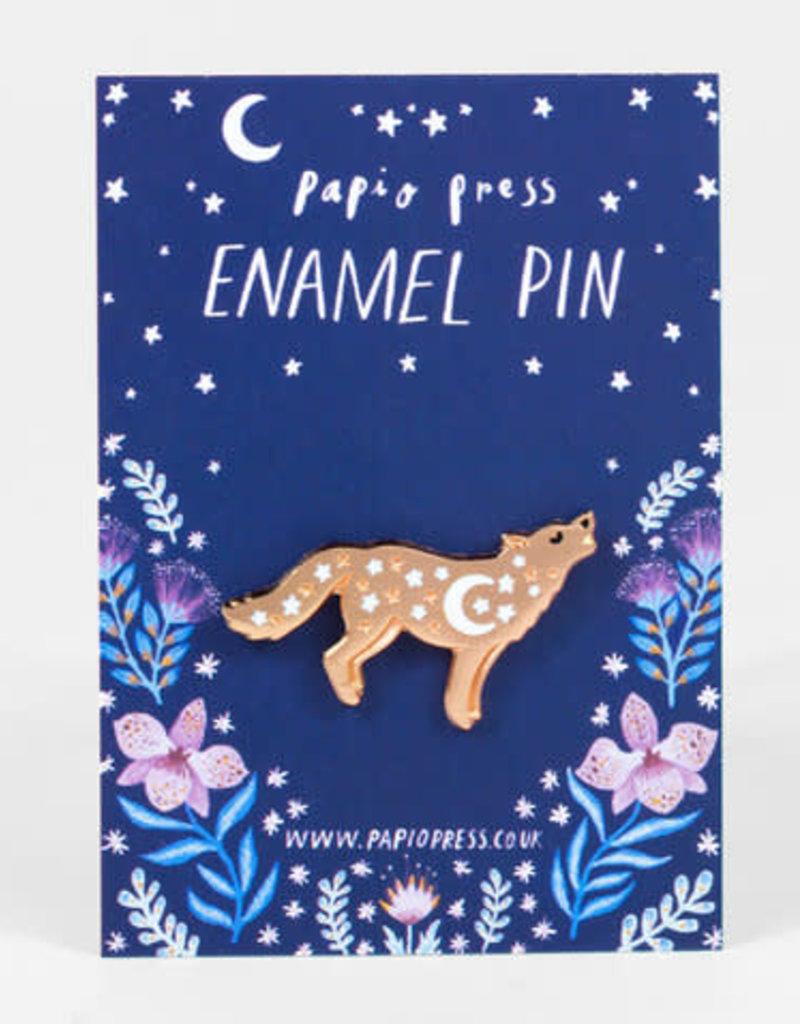 Papio Press Enamel Pin Wolf
