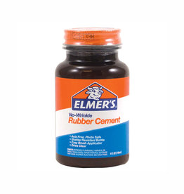 Elmer's Elmer's No Wrinkle Rubber Cement 4 Ounce