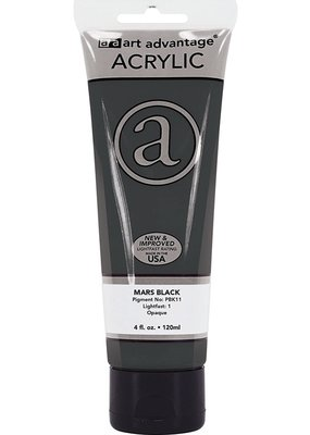 Art Advantage Acrylic Paint 4oz Mars Black