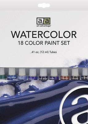 Art Advantage Watercolor Paint Set 18 Colors
