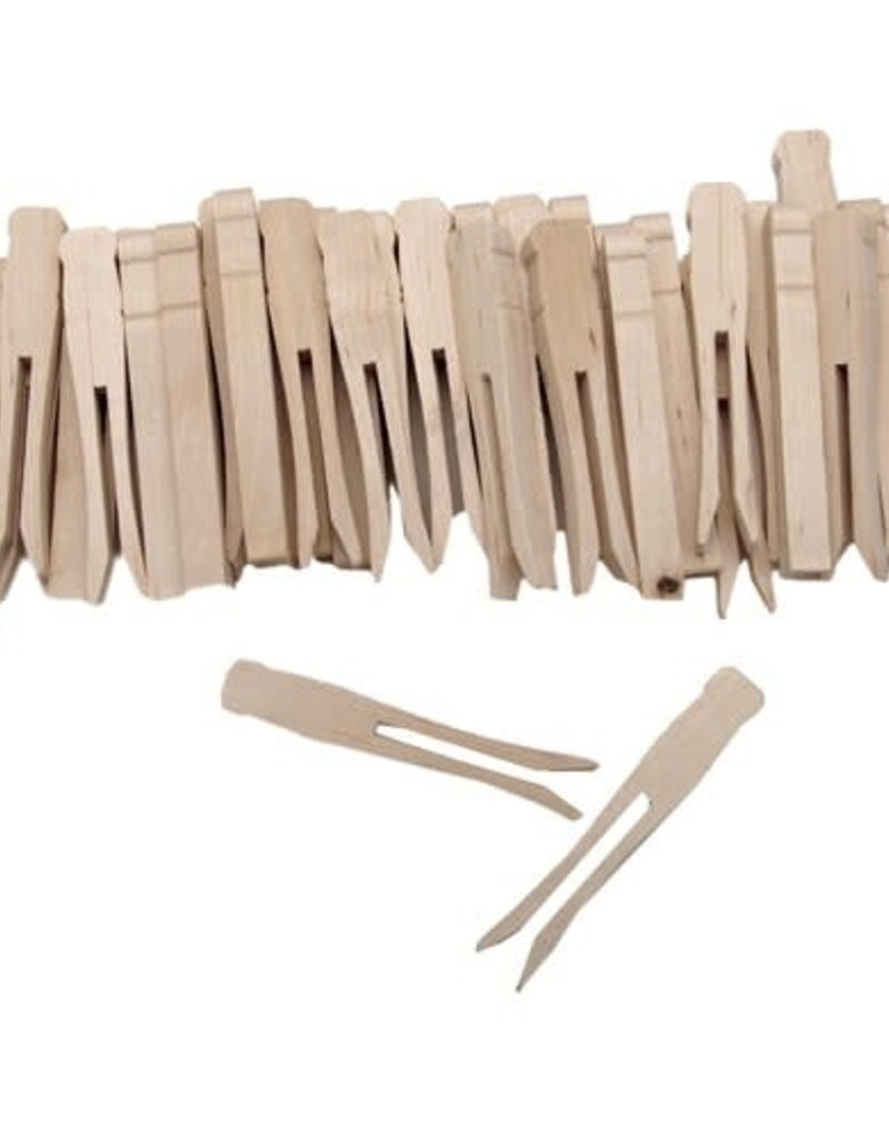 Forster Forster Woodsies Clothespin No-Roll 40pc