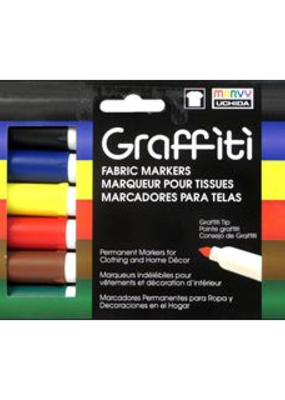 Marvy-Uchida Fabric Marker Uchida Graffiti Set Primary