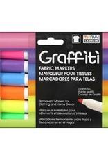Marvy-Uchida Fabric Marker Uchida Graffiti Set Fluorescent