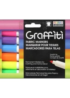 Marvy-Uchida Fabric Marker Uchida Graffiti Set Fluorescent