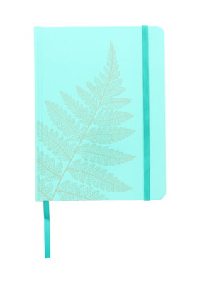 Art Alternatives Limited Edition Fashion Journals Lined Gold Fern Light Blue