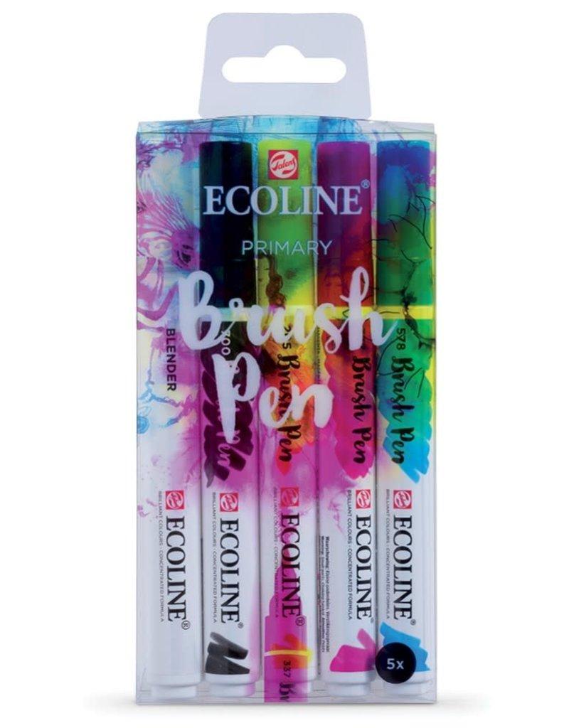 Ecoline Ecoline Brush Pen 5-Pen Primary Set