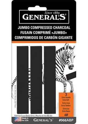 General Pencil Compressed Charcoal Jumbo Rectangle
