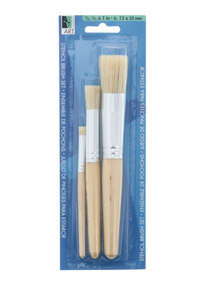 Art Alternatives Stencil Brushes 3 Brush Set