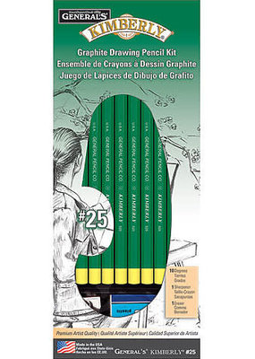 General Pencil Kimberly Graphite Drawing Kit 12 Pieces