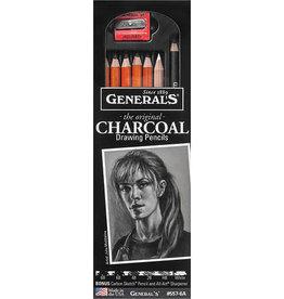 General Pencil Charcoal Drawing Pencil Set 6