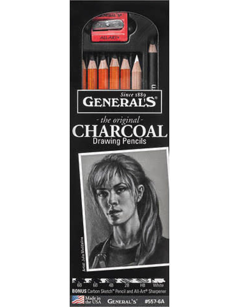 General Pencil Charcoal Drawing Pencil Set 6