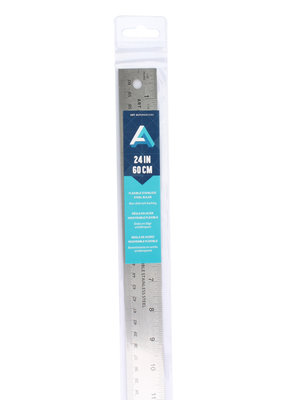 Art Alternatives Ruler Stainless Steel Flex Cork 24 Inch