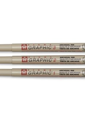 Sakura Pigma Graphic Pens 3 Pen Set Black