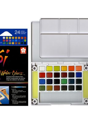 Sakura KOI Watercolor 24 Piece Field Sketch Box