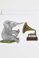 Le Canot Rouge Card Newton Chapel African Elephant A2