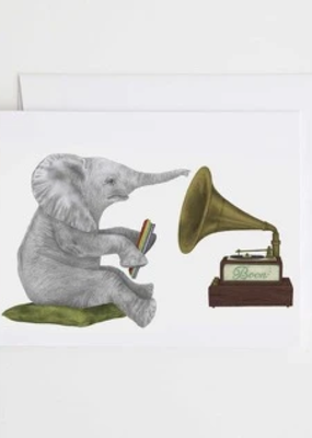 Le Canot Rouge Card Newton Chapel African Elephant A2