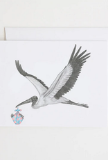 Le Canot Rouge Card Llewellen Caradoc Wood Stork & L'il Joe Buick Squirrel A2