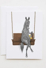 Le Canot Rouge Card Miami Clementine Horse A2