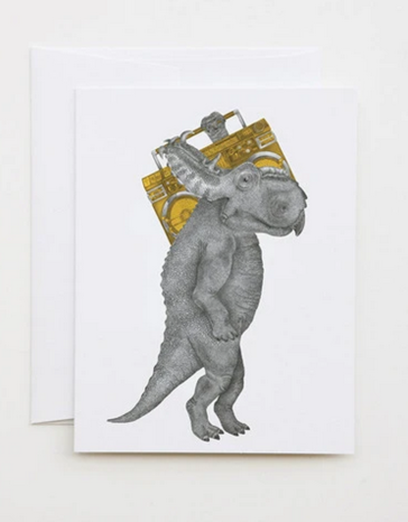 Le Canot Rouge Card John Barnstaple Pachyrhinosaurus A2