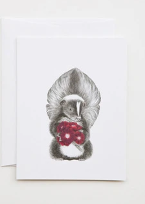 Le Canot Rouge Card Scruffles Wigglebottom The Skunk A2