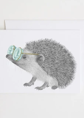 Le Canot Rouge Card Whitby Valentine European Hedgehog A2
