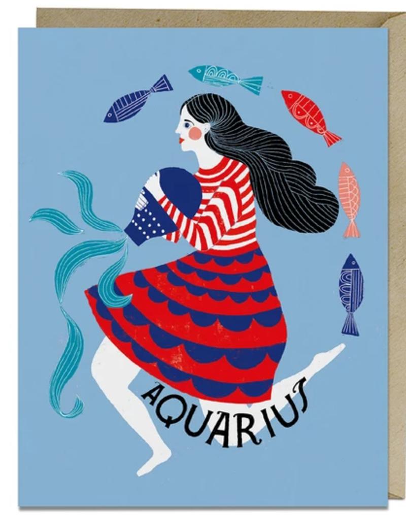 Lisa Congdon Card Aquarius