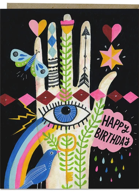 Lisa Congdon Card Rainbow Hand