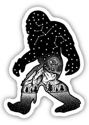 Stickers NW Sticker Sasquatch Constellation