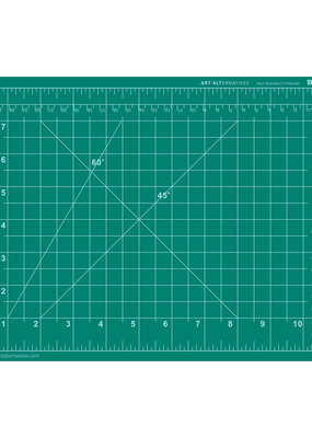 Art Alternatives Cutting Mat 9 X 12 Green/Black