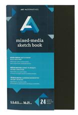 Art Alternatives Artist's Black Books Mixed-Media Sketch 5.5 X 8.5
