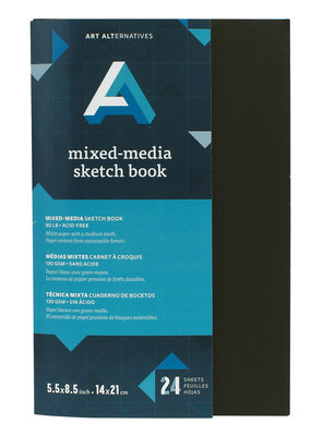 Art Alternatives Artist's Black Books Mixed-Media Sketch 5.5 X 8.5