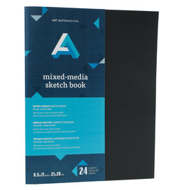 Art Alternatives Artist's Black Books Mixed-Media Sketch 8.5 X 11